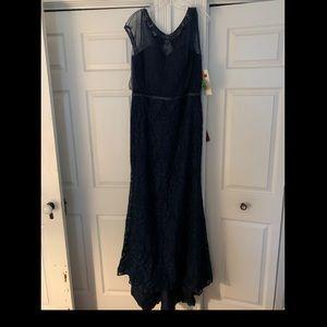 Dresses & Skirts - Vintage Lace Style Navy Blue Formal Dress